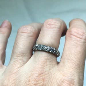 Sterling silver cubic zirconia ring/band